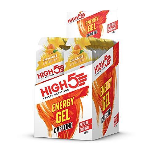 High5 High5 Gel Energético Con Cafeína De Aporte De Energía Rápido Para Llevar A Base De Zumo De Fruta Natural - Naranja - 20 Bolsitas Energéticas De 40 Gramos 880 g