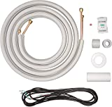 Senville 16 Ft. Copper Pipes for Mini Split Air Conditioner, 1/4' & 3/8' OD, White