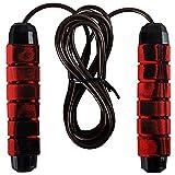 Cordes à sauter Jump Rope réglable corde à sauter poignées en mousse antidérapantes Convient aux enfants aux adultes et aux exercices en famille (Rouge)