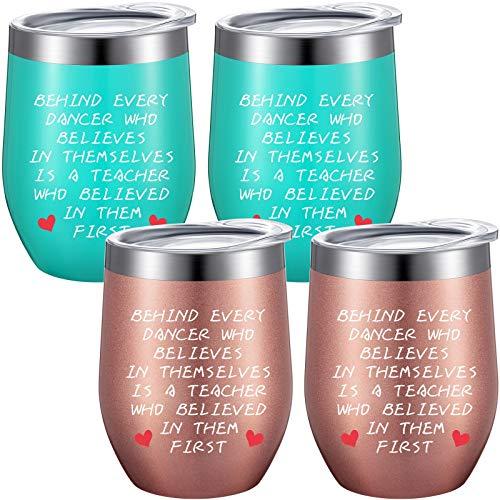 4 Pieces Dance Teacher Appreciation Gift Coffee Mug, Funny...