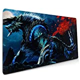 Monster Hunter Mouse Pad Rectangle Non-Slip Rubber Electronic Sports Oversized Large Mousepad Gaming Dedicated,for Laptop Computer & PC 15.8X35.4 Inch
