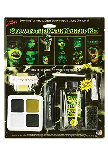 Fun World Unisex-Adult's Glow in The Dark Makeup Kit, Multi, Standard