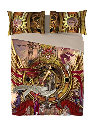 Wild Star STEAMPUNK ORACLE OF VISIONS Duvet and Pillowcase Cover set (Double 200cm x 200cm)