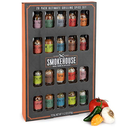 Thoughtfully Gifts, Smokehouse Ultimate Grilling Spice Set,...