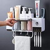 Distributeur Automatique de Dentifrice Support Mural et Porte-brosse à...