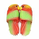 SHANGXIAN Été Plage Pantoufle Créatif Oiseau drôle Tongs Femmes Enfants Salle de Bains Ménage Décontractée Chaussons,Red+Green,38/39(230mm)