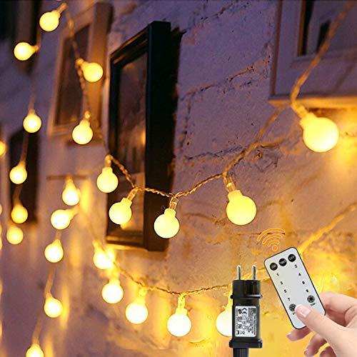 Guirnalda Luces 15m 100 Led, de Control Remoto Cadena de Luces, Luces Navidad y Luces de Hadas para Decorativas, Navidad, Habitacion, Fiesta, Jardín, Bodas, Césped