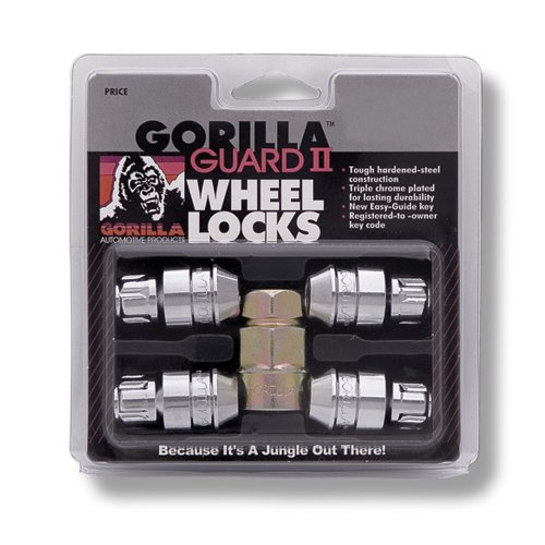 Gorilla Automotive 61681N Chrome Acorn Gorilla Guard II Wheel Locks - Set of 4 (1/2' Thread Size)