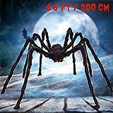 SnowCinda Halloween Decorations, Scary Giant Spider Halloween Props for Garden Outdoor or Halloween Parties Indoor Decor