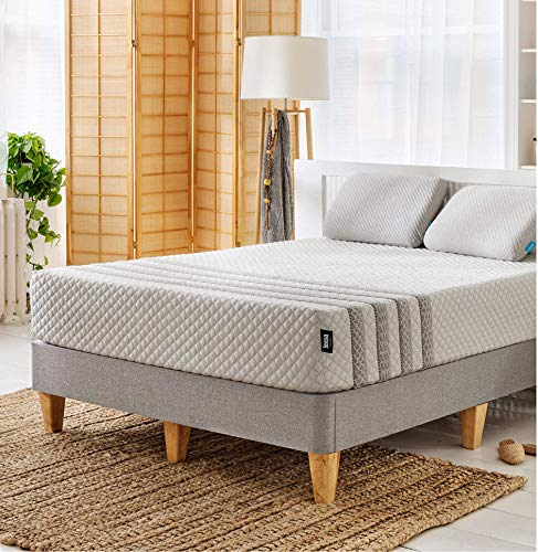 "Leesa Luxury Hybrid 11"" Box Mattress, King, White & Gray"