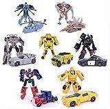 EASTVAPS Lot de 7 Robot Voiture Transformer Jouets Figurines Cadeaux de noël