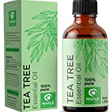 100% Pure Tea Tree Oil Natural Essential Oil with Antifungal Antibacterial Benefits For Face Skin Hair Nails Helps Dandruff Piercings Cuts Bug Bites Multipurpose Surface Cleaner