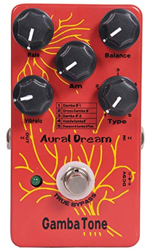 Aural Dream Gamba Tone Synthesizer Guitar Effect Pedal includes Gamba 8',Diapason&Gamba&Flute,Gross Gamba 8'and Viola Da Gamba 8'with Vibrato and Rotary modules,True Bypass.