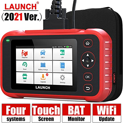 [2021 Elite] LAUNCH Code Reader-OBD2 Scanner Check Engine ABS SRS Transmission Scanner with Battery Test, 5' Touchscreen WiFi Free Update, Car Scanner Diagnostic for All Cars with Health Report