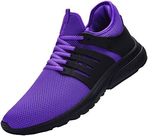 DYKHMILY Impermeable Zapatillas de Seguridad Mujer Ligeras Zapatos de Seguridad Trabajo Punta de Acero Calzado de Seguridad Deportivo (PúRpura,36 EU)
