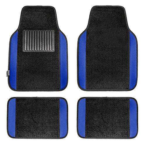 FH Group F14407BLUE Premium Full Set Carpet Floor Mat (Sedan and SUV with Driver Heel Pad Blue)
