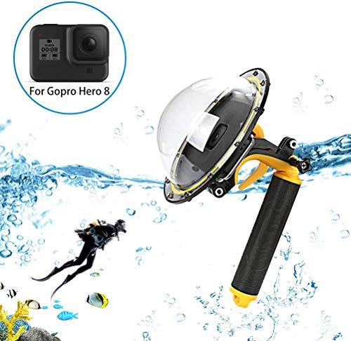 Sjpzwcrl per GoPro Dome Port, Dome GoPro Port Lens per Accessori Gopro Hero 8 Fotocamera Nera con Galleggiante Grip Trigger alloggiamento Impermeabile Custodia Subacquea
