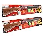 19' Pump Action Long Barrel Shotgun Soft Dart Shooter Rifle Toy Gun with Target Ducklings Assorted Styles (Gift idea Item) 2-Pack Deal