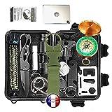 Kit de survie d'urgence Multi-outils 19en1 Avec Trousse...