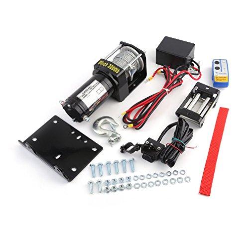 Treuil Électrique 12 V 3000LB, Treuil de levage automatique avec télécommande du système de contrôle