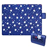 Bertte Outdoor Blanket Large Beach Camping Picnic Blanket Oversized Hiking Park Waterproof Sand Free Handy Compact Mat Durable Foldable Machine Washable Rug for Travelling, Concerts, 79' x 57', Star