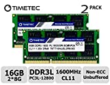 Timetec Hynix IC 16GB Kit (2x8GB) DDR3L 1600MHz PC3-12800 Unbuffered...