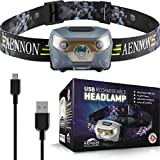 USB Rechargeable Lampe Frontale LED CREE, très lumineuse, légère et...