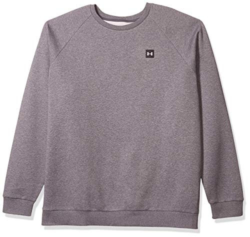 Under Armour Felpa girocollo Uomo Rival Crew,PITCH GRAY LIGHT ,MD