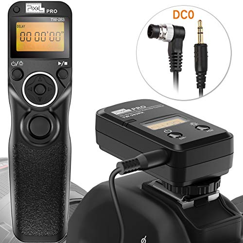 Fernauslöser für Nikon, Pixel Timer Kabellose Shutter TW-283 DC0 Auslöser Fernbedienung für Nikon SLR-Digitalkameras D800 D800 D700 D200 D300 D500 D1 D2 D3 D4 D4s D5 N90s F5 F6 F100 F90 D90X
