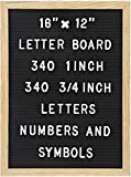 Felt Letter Board with 680 Letters, Numbers & Symbols 16 x 12 inch :: Changeable Letter Board for...