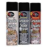 Rock Doctor Granite & Quartz Care Kit, 3 Piece Maintenance Stone Care Combo Kit – Cleans & Renews Marbel, Travertine, Tile and All Other Stone, Fresh, Pack of 3, 54.0 Ounce