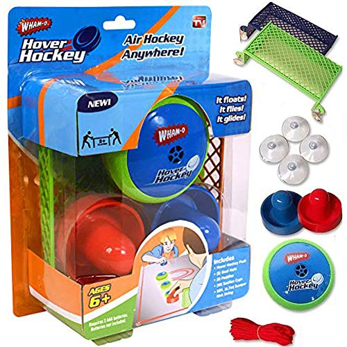 HALO NATION Hover Hockey Portable Air Hockey Set - Play on Any Even Surface