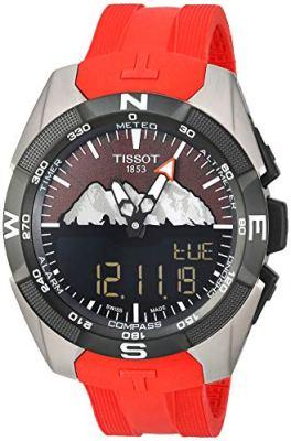 Tissot mens T-Touch Titanium Touchscreen Red T0914204705110. Top 21 Smartwatch Brands
