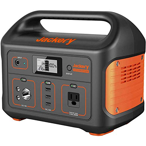 Jackery Portable Power Station Explorer 500, 518Wh Outdoor Solar...