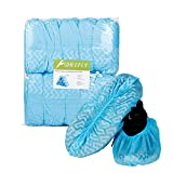 SHEEFLY 100 Pack Disposable Boot Shoe Covers, Water Resistant, Non-Slip,Durable Recyclable Boot Covers, Thick Shoe Protectors for Indoor Carpet Floor Usage Medical Museum Workplace(Blue)