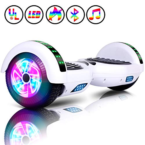 Huanhui Hoverboard, 6,5' Overboard Elettrico, Self Blance Scooter 2 * 300W Motore Glyboard Elettrico...