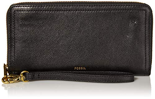 51laIltK2BL A crisp style to enhance your accessory collection, the Fossil® Logan Zip Around Clutch.