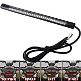 Auxbar 3rd Tail Brake Lights 8' Stop Turn Signals Bulb 48 LEDs Plate Licenses Strip for Truck Motorcycle Harley Davidson ATVs Scooters Touring Bikes