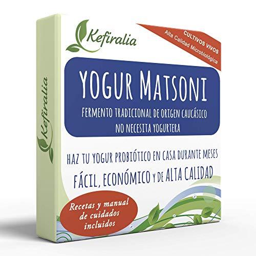 Fermento de Yogur Matsoni (Reusable de forma ilimitada) + In