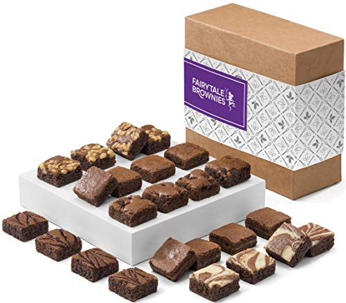 Fairytale Brownies Magic Morsel 24 Gourmet Chocolate Food Gift Basket - 1.5 Inch x 1.5 Inch Bite-Size Brownies - 24 Pieces - Item CF424