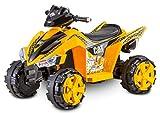Kid Trax Caterpillar ATV Toddler Ride On Toy, 6 Volt Battery, 3-5 Years, Max Rider Weight of 60 lbs, Single Rider, CAT ATV (KT1349I)