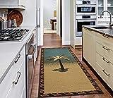 Ottomanson Sara's Kitchen runner rug, 20'X59', Multicolor Tropical Palm