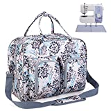 Teamoy Sewing Machine Bag with Bottom Wooden Board, Thick Padded Sewing Machine Tote Bag, Sewing...