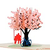 CUTEPOPUP Anniversary Pop Up Cards with Cherry Blossom for Wife,...