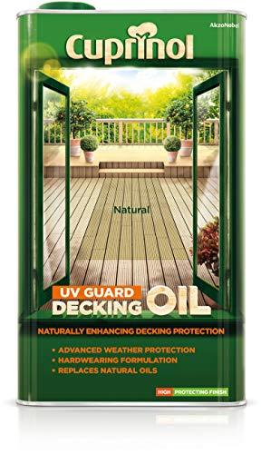 Cuprinol 5122414 Uv Guard Decking Oil Exterior Woodcare, Natural