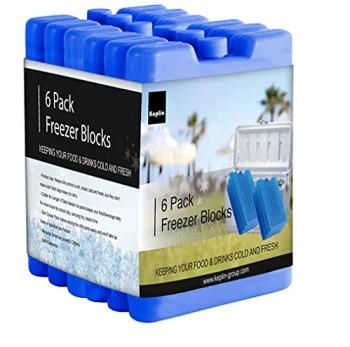 KEPLIN Home Freezer Blocks Family Pack - Keeps Food and Drink Cooler for Hours (6 pack)