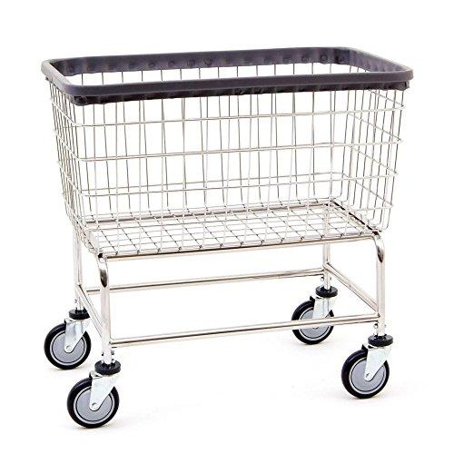 R&B Wire 200F Large Capacity Wire Laundry Cart, 4.5 Bushel,...