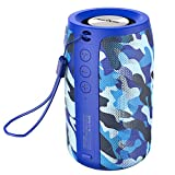 Wireless Bluetooth Speakers Zealot S32 Portable Speaker Hand Free Calls/Micro SD Card/U Disk/Line-in Modes for Yoga Gym Audiobooks Competible for iOS Andriod -Blue