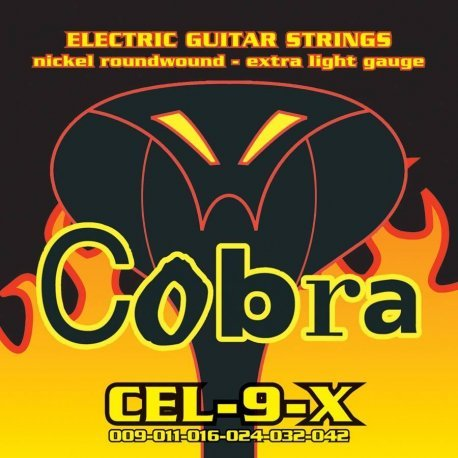 Set of Electric Guitar Strings Cobra WetSuit 09 42 cel-9-x