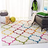 Safavieh Kids Shag Collection SGK569A Ivory and Multi Area Rug (4' x 6')